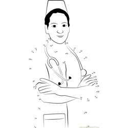 Happy Nurse Dot to Dot Worksheet