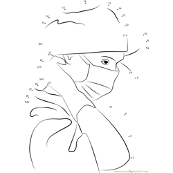 Nurse with Covered Mouth Dot to Dot Worksheet