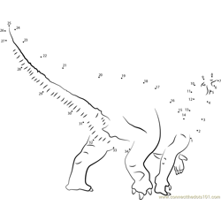 Dollodon Dot to Dot Worksheet