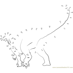 iguanodon Dot to Dot Worksheet