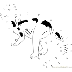 ornithopods Dot to Dot Worksheet