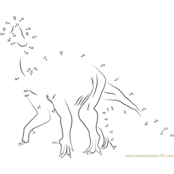 ornithopods dino Dot to Dot Worksheet
