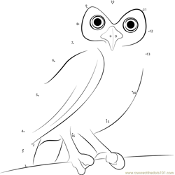 Tiny Owl Dot to Dot Worksheet