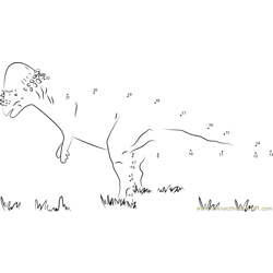 Pachycephalosaurus on Grass