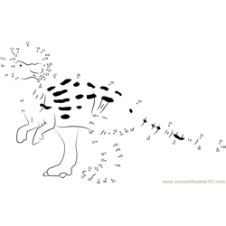 Pachycephalosaurus with Patches Dot to Dot Worksheet