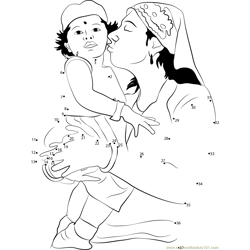 Parsi Woman Kisses her Child