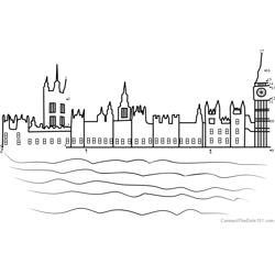 Houses of Parliament Dot to Dot Worksheet