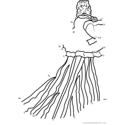 The Woman in the Green Dress Dot to Dot Worksheet