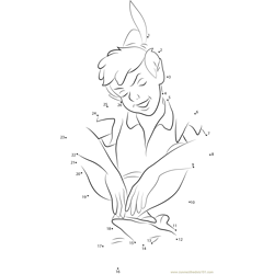 Cute Peter Pan Dot to Dot Worksheet