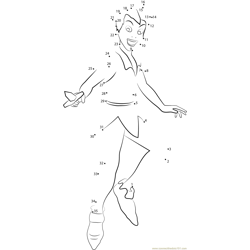 Peter Pan Smiling Dot to Dot Worksheet