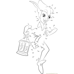 Peter Pan by Zaratus Dot to Dot Worksheet