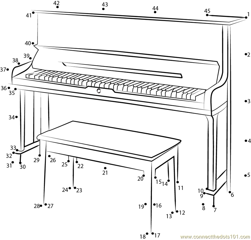 U3 sh silent upright piano dot to dot printable worksheet for What are the dimensions of an upright piano