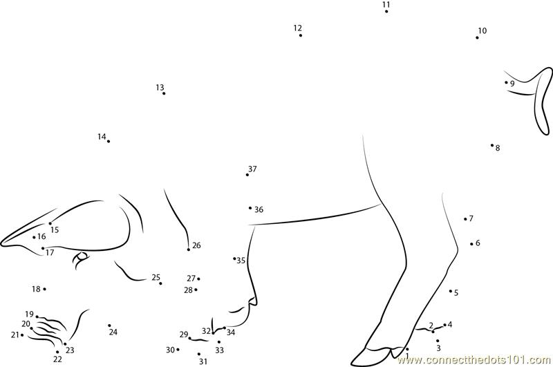 Eating Pig Dot To Dot Printable Worksheet