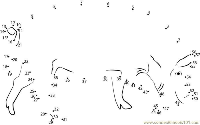 Hungry Pig Dot To Dot Printable Worksheet