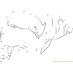 Sleeping Pigs by Shalotka Dot to Dot Worksheet