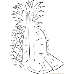 Pineapple Fruit Dot to Dot Worksheet