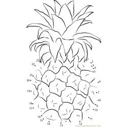 Pineapples Dot to Dot Worksheet