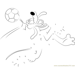 Pluto playing a Football