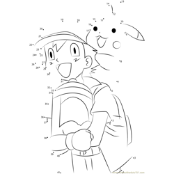 Happy Ash and Pikachu