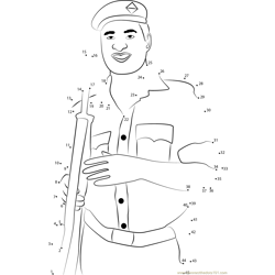 Indian Policeman Dot to Dot Worksheet