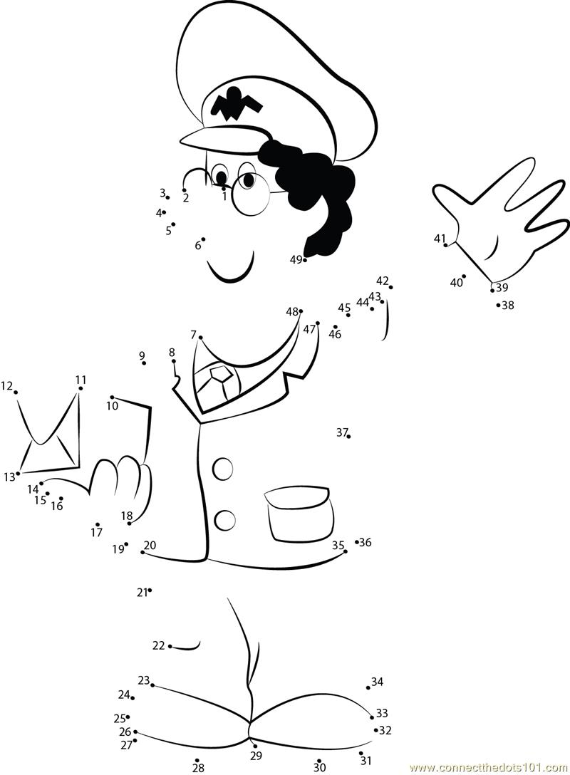 postman pat very kind dot to dot printable worksheet connect the