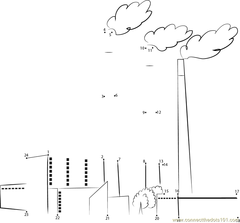 coal power plant - connect the dots for kids