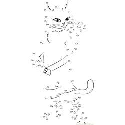 Gambar baru puss in boots Dot to Dot Worksheet