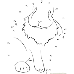 Lop Eared Pet Rabbit Dot to Dot Worksheet