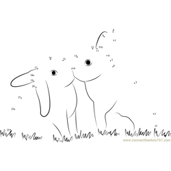 Rabbit In Love Dot to Dot Worksheet