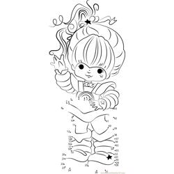 Rainbow Brite Star Dot to Dot Worksheet