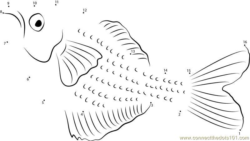 Rainbowfish Underwater Dot To Dot Printable Worksheet
