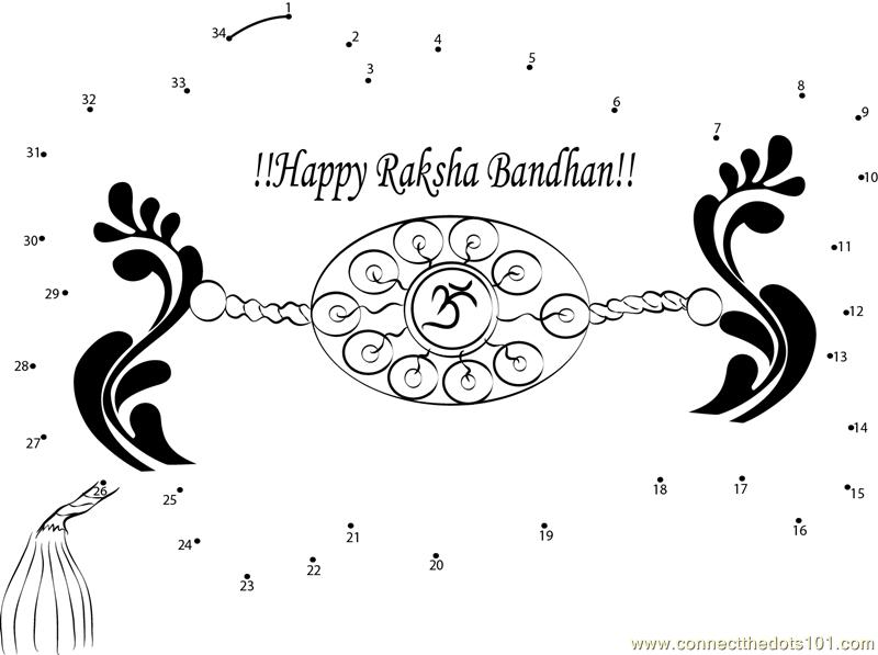 Rakhi Raksha Bandhan Colouring Pages Sketch Coloring Page