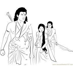 Lord Rama going to Vanvas
