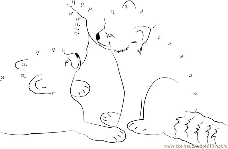 Red Panda Having Fun Dot To Dot Printable Worksheet