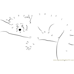 Red Panda  Sleeping Dot to Dot Worksheet