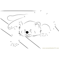 Red Panda is a Happy Napper Dot to Dot Worksheet