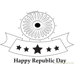 Republic Day of India Flag
