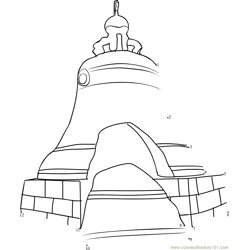 Tsar's Bell, The Largest Bell in the World Dot to Dot Worksheet