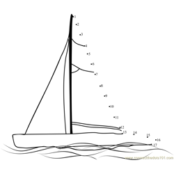 Sailboat Dot to Dot Worksheet
