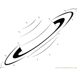 Planet Saturn Dot to Dot Worksheet