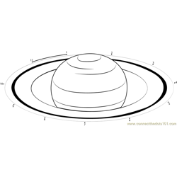 Saturn by HST Dot to Dot Worksheet