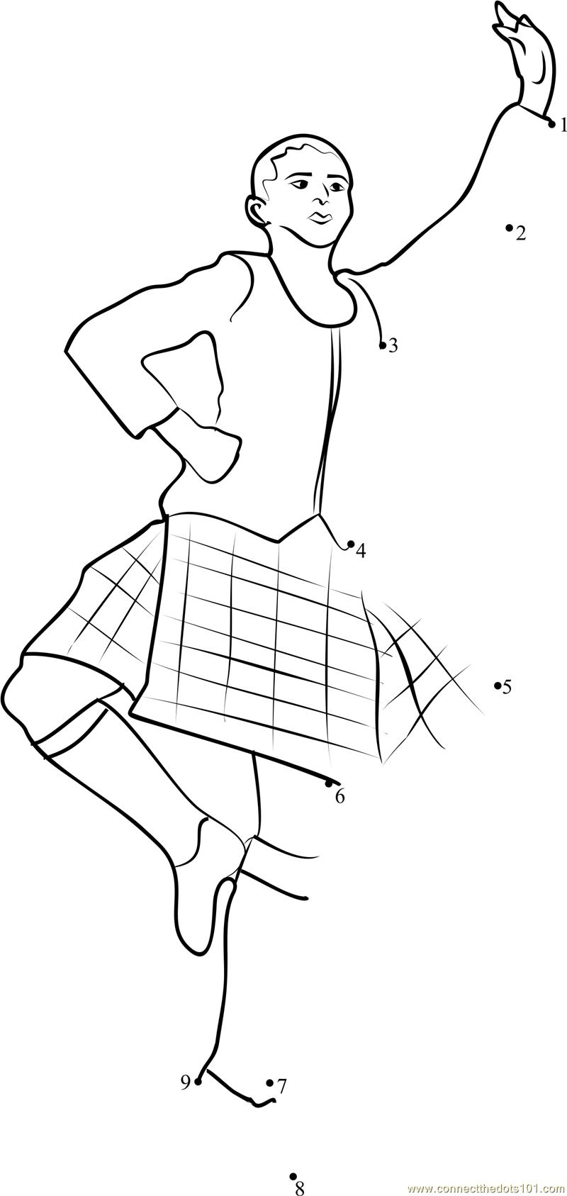 Traditional Scottish Dance dot