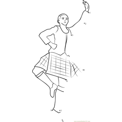 Traditional Scottish Dance Dot to Dot Worksheet