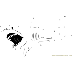 The White Shark Sea Monsters Dot to Dot Worksheet