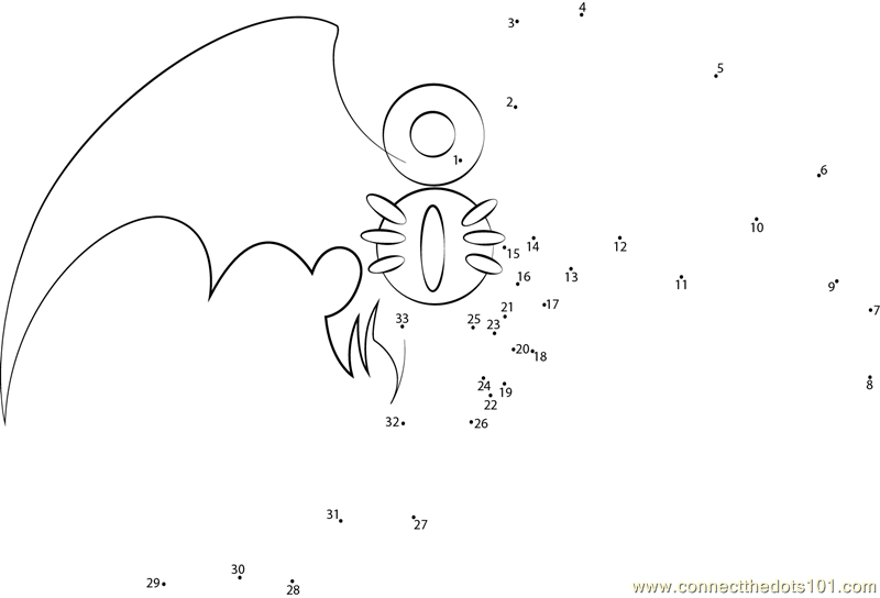 Mythical Creatures Shade dot to dot printable worksheet ...