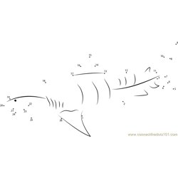 Tiger Shark Underwater Dot to Dot Worksheet