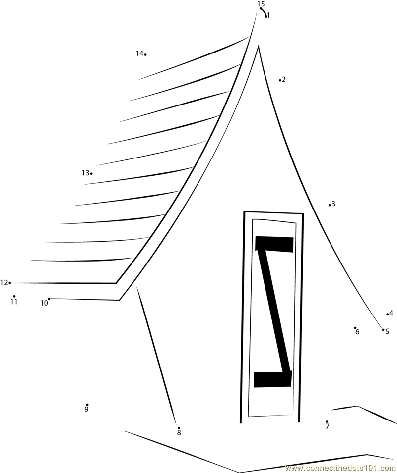 fancy shed dot to dot printable worksheet connect the dots fancy garden sheds construct your personal shed with