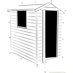 Pressure Treated Apex Wooden Shed