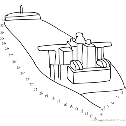 Oil Tanker Ship Dot to Dot Worksheet