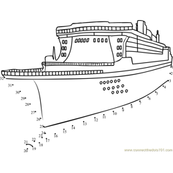 Passenger ship Dot to Dot Worksheet